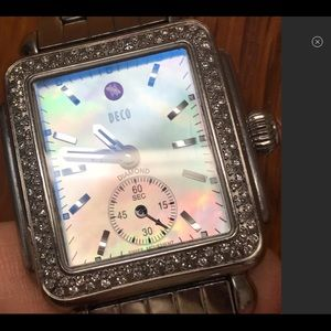 MICHELE DECO MOP Diamond Watch EC